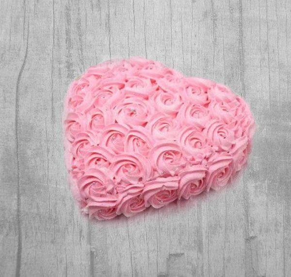 sweet pink cake pineapple